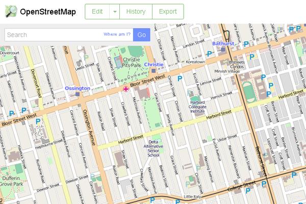 OpenStreetMap Geotab