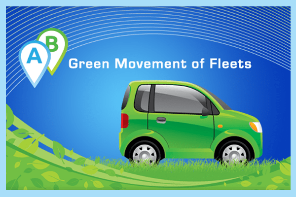 green fleet with telematics