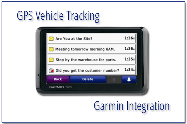 GPS Vehicle Tracking Garmin Integration