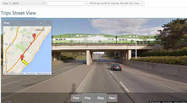 mygeotab google trips street view
