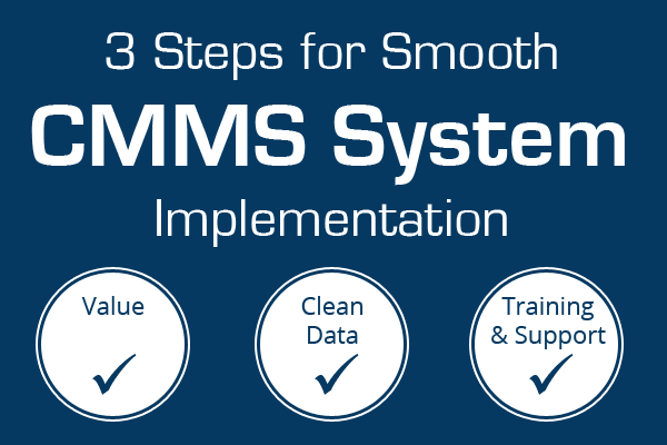 3 Steps CMMS System Implementation