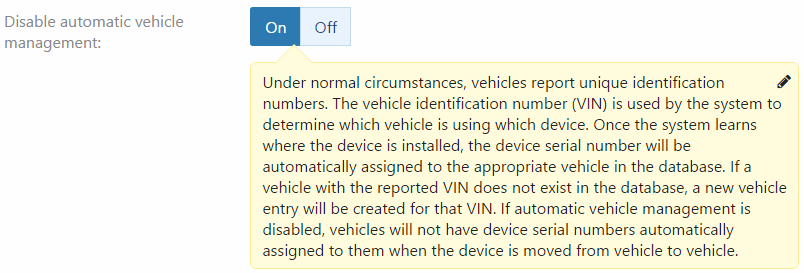 mygeotab pin device disable vehicle
