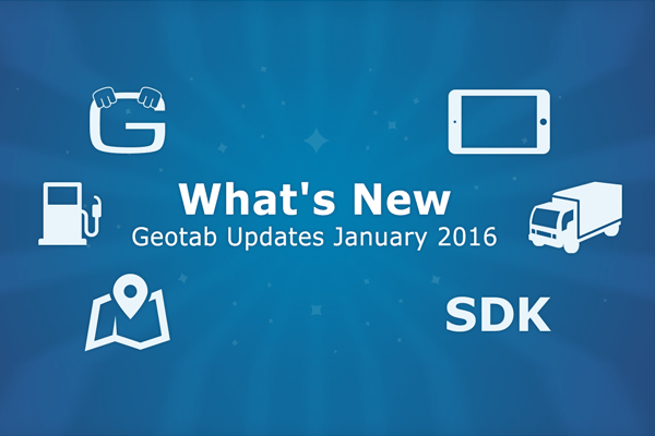 Geotab Updates January