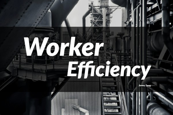 Worker efficiency reports