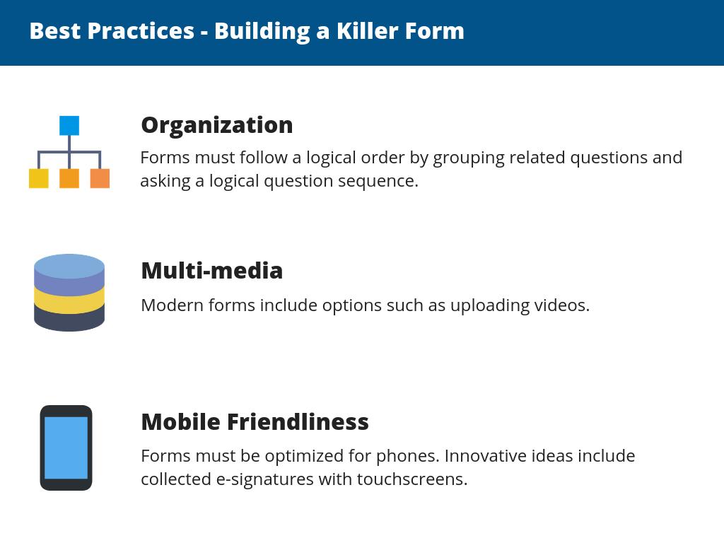 building a killer form