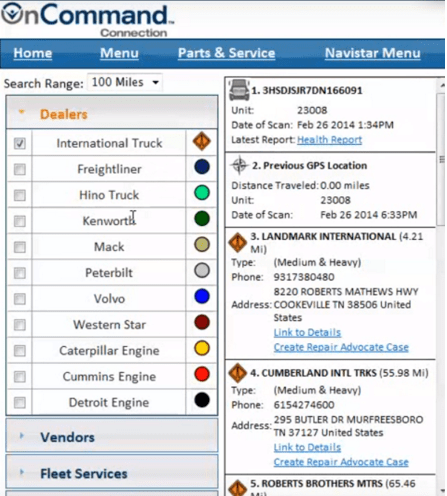 oncommand connection's online portal
