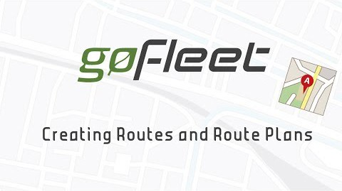 Creating Routes & Route Plans