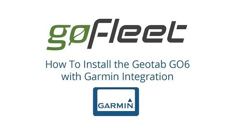 How To Install The Geotab GO6 Device With Garmin