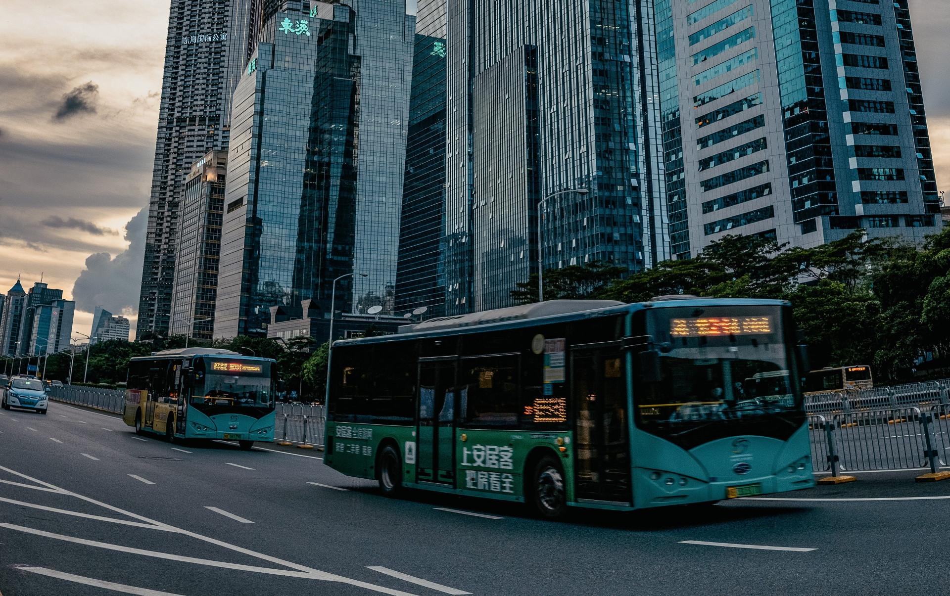 Electric bus fleet